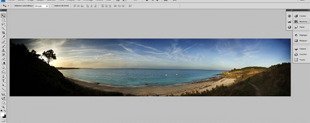 Faire un panorama dans Photoshop